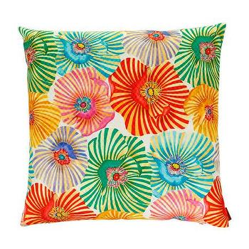 Pillows - Missoni Home Orlov Cushion | Amara - orange pink green floral pillow, modern floral print pillow, multi colored modern floral pillow,