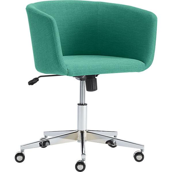 Coup teal office chair cb2