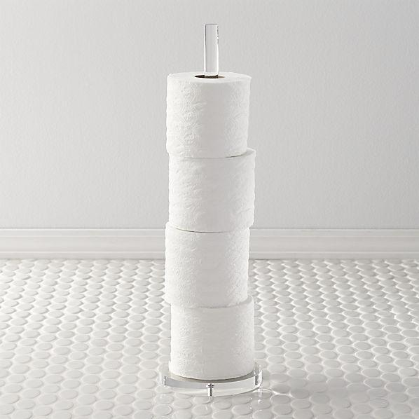 Acrylic Toilet Paper Storage Tower Cb2