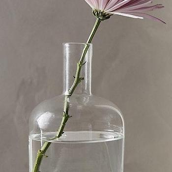Decor/Accessories - Lost & Found Glass Bottle I anthropologie.com - blown glass bottle, bottle necked vessel, vintage style glass vessel,