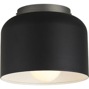 Lighting - bell black flush mount lamp | CB2 - minimalist flush mount lamp, black flush mount lamp, black steel flush mount lamp, black and white flush mount pendant,