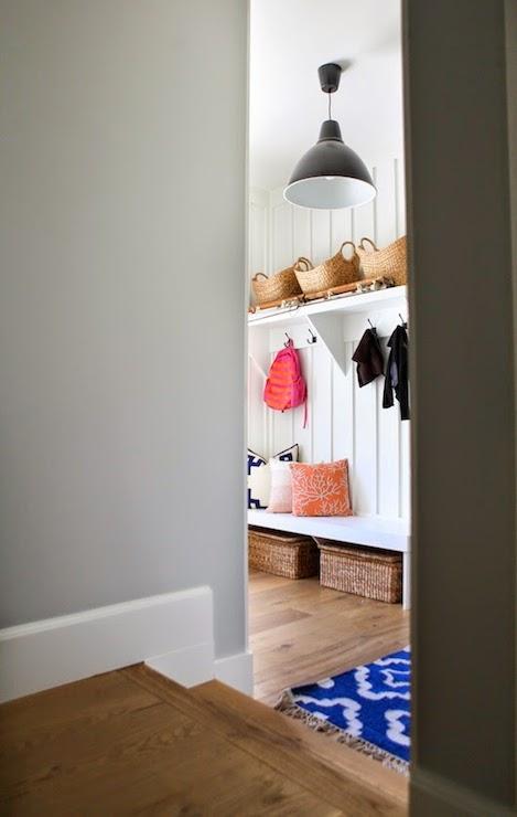 Sunken Mudroom Transitional Laundry Room Benjamin