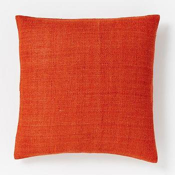 Pillows - Silk Hand-Loomed Pillow Cover - Cayenne | West Elm - rust red pillow, rust colored silk pillow, red silk pillow, rust red silk pillow,
