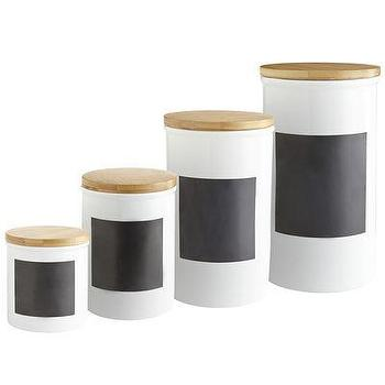 Decor/Accessories - Chalk Note Canisters I Pier One - chalk note canisters, chalk board kitchen canisters, chalk front canisters,