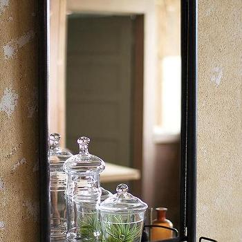 Bath - Wesley Bathroom Mirror with Shelf | HomeDecorators.com - industrial vanity mirror, vanity mirror with shelf, metal vanity mirror with shelf,