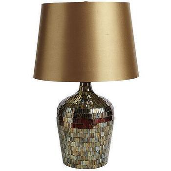 Lighting - Amber Mosaic Table Lamp I Pier One - amber mosaic table lamp, glass mosaic table lamp, bronze mosaic table lamp,