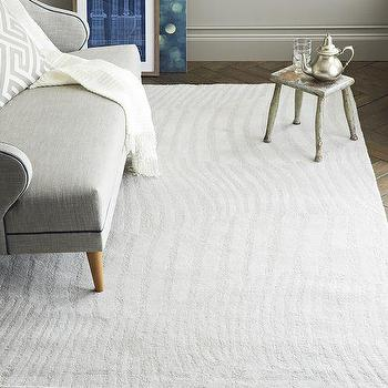 Rugs - Wavy Stripe Sculpted Wool Rug | West Elm - tonal gray rug, contemporary gray wave rug, gray wavy striped rug,