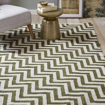 Rugs - Guatemalan Tiled Zigzag Rug | West Elm - khaki chevron rug, khaki zigzag rug, green and white chevron rug,