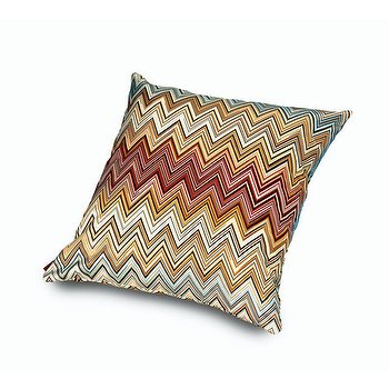 Pillows - Missoni Home Jarris Cushion | Amara - zig zag pillow, earth toned chevron pillow, earth tone zigzag pillow,