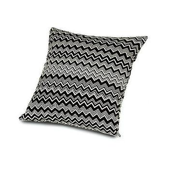 Pillows - Missoni Home Tobago Cushion | Amara - black and white zigzag pillow, black and white chevron pillow, black and white missoni pillow,