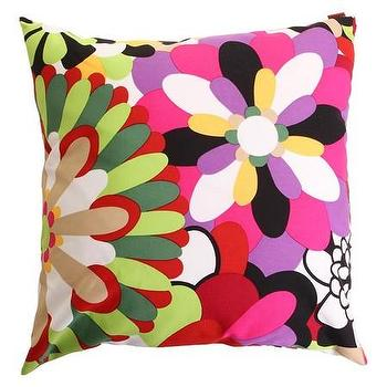Pillows - Missoni Home Vevey Cushion | Amara - green pink and purple floral pillow, modern floral pillow, colorful floral pillow, floral abstract pillow,