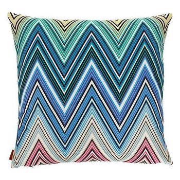 Pillows - Missoni Home Kew Cushion | Amara - missoni zigzag pillow, blue green and pink zigzag pillow, modern zigzag pillow,