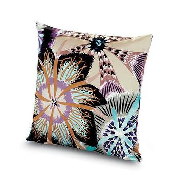 Pillows - Missoni Home Passiflora Giant Cushion | Amara - purple and blue floral pillow, passion flower pillow, missoni flower pillow,