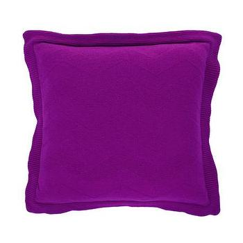 Pillows - Missoni Home Olav Cushion | Amara - modern purple pillow, bright purple pillow, purple chevron pillow,