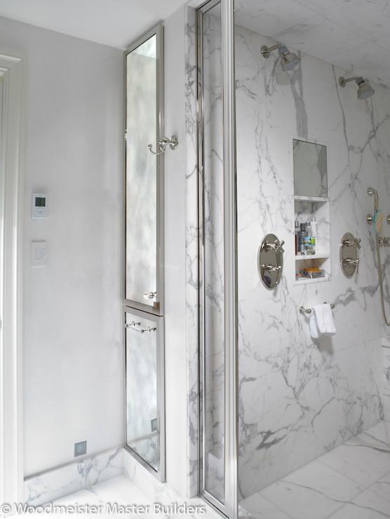 Shared shower ideas transitional bathroom for Shared bathroom ideas