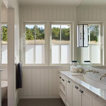Transitional, bathroom, Benjamin Moore White Dove, Nick Noyes Architecture