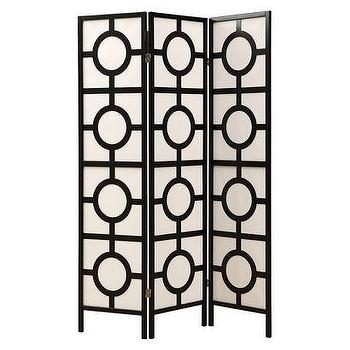 Decor/Accessories - Monarch 3 Panel Circle Design Folding Screen I Target - geometric floor screen, geometric folding room divider, modern geometric room divider,