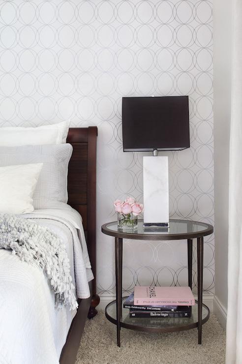 Darcy Wallpaper Transitional Bedroom Krista