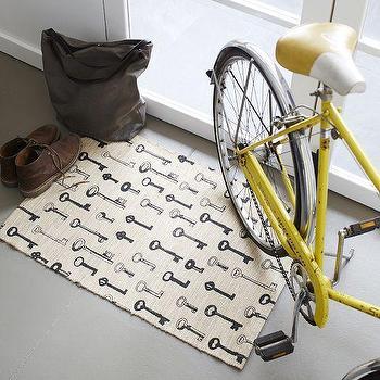 Rugs - House Keys Jute Mat | West Elm - key print door mat, key pattern door mat, key door mat,