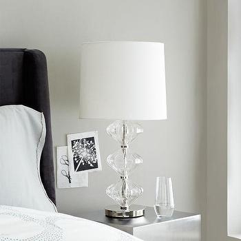 Lighting - Abacus Table Lamp - Diamond Fluted | West Elm - glass abacus lamp, fluted glass lamp, fluted glass and nickel lamp,