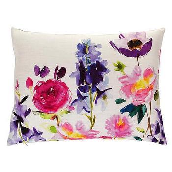Pillows - Bluebellgray Taransay Cushion | Amara - modern floral pillow, pink and purple floral pillow, floral linen pillow,