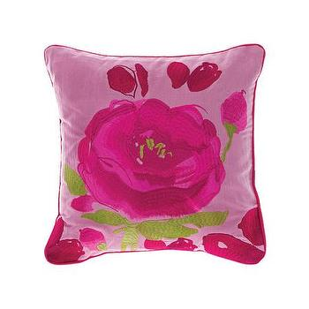 Pillows - Bluebellgray Joanne Cushion - Pink Bloom | Amara - pink floral print pillow, dark pink flower pillow, fuchsia pink floral pillow,