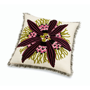 Pillows - Missoni Home Passiflora Passion Flower Cushion | Amara - passion flower pillow, purple passion flower pillow, missoni purple flower pillow,