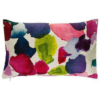 Pillows - Bluebellgray Eric Cushion | Amara - abstract petal pillow, petal print pillow, multi colored abstract lumbar pillow,