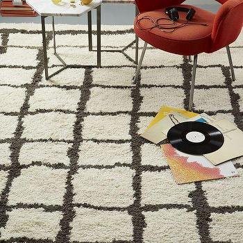 Steven Alan Grid Shag Wool Rug, West Elm