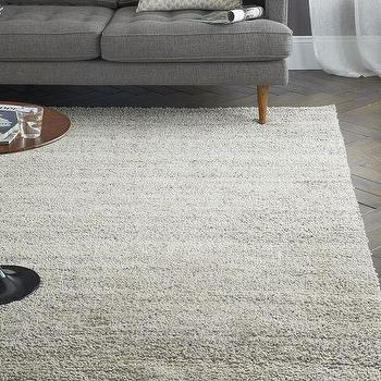 Steven Alan Solid Wool Shag Rug, Oatmeal, West Elm