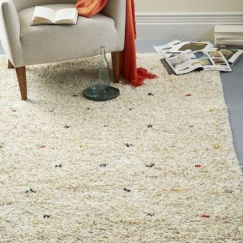 Rugs - Cozy Textured Wool Rug - Multi | West Elm - textured wool rug, color flecked wool rug, wool rug with colored strands,