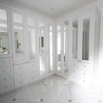 Mirrored Closets, Transitional, closet, Meredith Heron Design