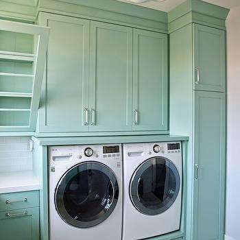 Teal Laundry Rooms, Transitional, laundry room, Benjamin Moore Wythe Blue, Sunny Side Up