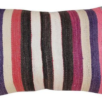 Pillows - Vintage Kilim Pillow | Shoppe by Amber Interiors - turkish kilim pillow, striped kilim pillow, vintage turkish pillow,