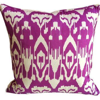 Pillows - Pink Ikat Pillow | Shoppe by Amber Interiors - purple ikat pillow, purple and white ikat pillow, ikat pillow,