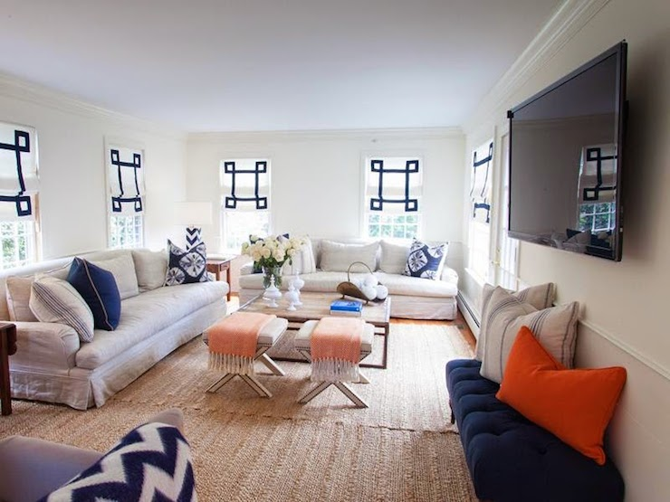 Roll Arm Slipcovered Sofas Cottage Living Room