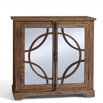Storage Furniture - Teagan Bar Cabinet | Pottery Barn - mirror front bar cabinet, wooden mirror front bar cabinet, geometric mirror front bar cabinet,
