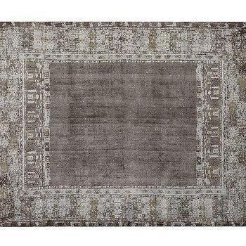 Rugs - Kaspar Printed Handloom Rug - Gray | Pottery Barn - gray patina rug, gray handloom rug, distressed gray rug,