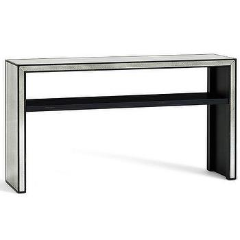 Dalton mirrored accent table - Mirrored console table overstock ...
