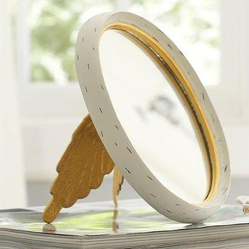 Mirrors - Angel Wing Mirrors | PBteen - angel wings mirror, gold angel wings mirror, angel wings make up mirror,