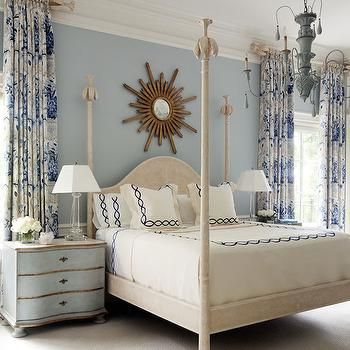 Blue Bedrooms, French, bedroom
