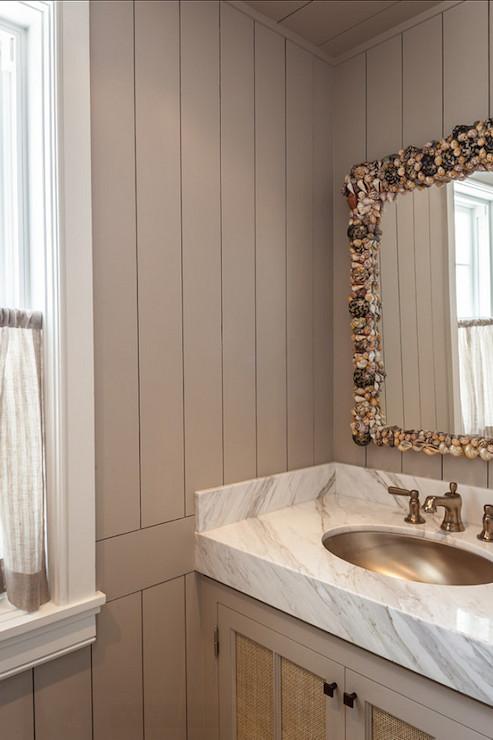... - bathroom - Benjamin Moore Revere Pewter - Laura Hay Decor Design