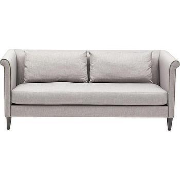 Seating - Bree Sofa I High Fashion Home - gray shelter back sofa, gray roll arm sofa, contemporary shelter back sofa,
