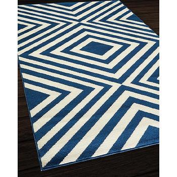 Indoor/ Outdoor Navy Zig-Zag Rug (7'10 x 10'10), Overstock.com