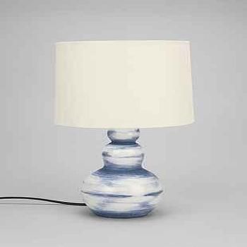 Lighting - 4040 Locust Ceramic Table Lamp Base I Urban Outfitters - blue and white ceramic lamp, blue and white gourd lamp, blue and white brushstroke lamp,