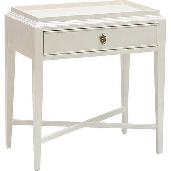 Storage Furniture - Bernhardt Salon 1 Drawer Nightstand I High Fashion Home - single drawer white nightstand, white x base nightstand, transitional white nightstand,