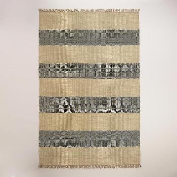Black and Natural Ellie Jute Area Rug, World Market