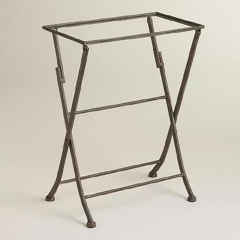 Tables - Butler Tray Stand | World Market - butler tray stand, bar tray stand, metal butlers tray stand,