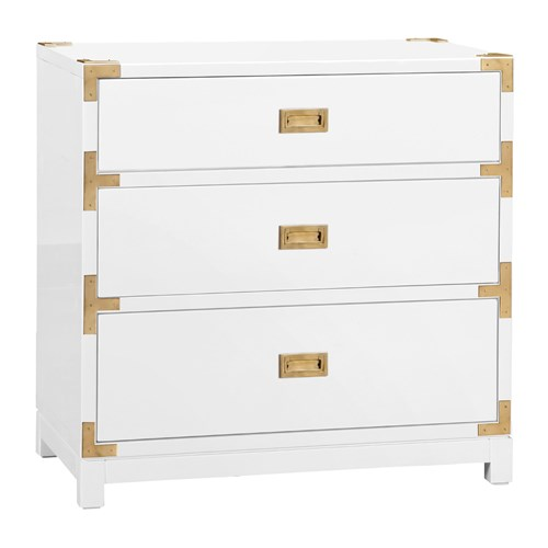 Zinc Door Bungalow 5 Tansu 3 Drawer White Side Table Look 4 Less