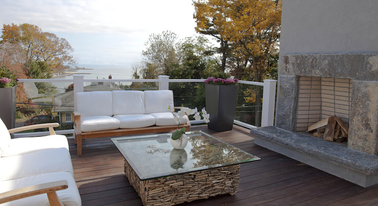 Driftwood coffee table modern deck patio milton - Table basse bois flotte ...